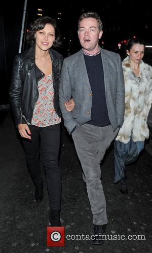 Emma Willis and Stephen Mulhern seen leaving the ITV2 party at the W Hotel London, England - 06-11-12