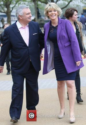 Eamon Holmes and Ruth Langsford filming outside the ITV Studios London, England - 04.05.12
