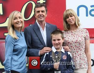 Fiona Phillips, John Stapleton and Kate Garraway outside the ITV studios London, England - 09.07.12