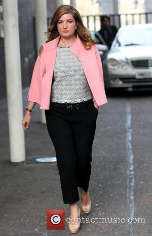 Karren Brady outside the ITV studios London, England - 03.04.12