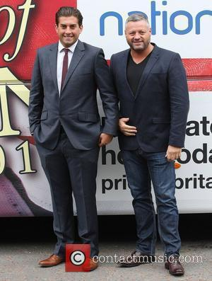James Argent and Mick Norcross from 'The Only Way is Essex' at the ITV studios London, England - 09.07.12