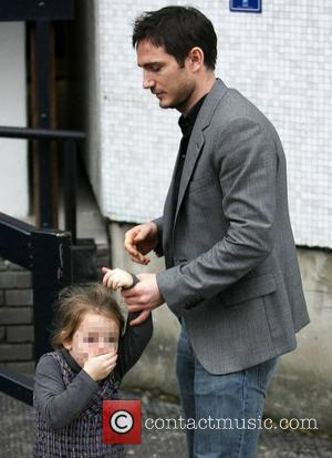 Frank Lampard with his daughter Isla leaving the ITV Studios London, England - 04.01.12