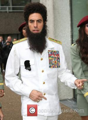 Sacha Baron Cohen as 'The Dictator' arriving at ITV Studios London, England - 09.05.12