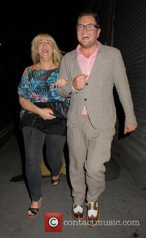Sally Lindsay and Alan Carr out and about in the West End London, England - 09.07.12