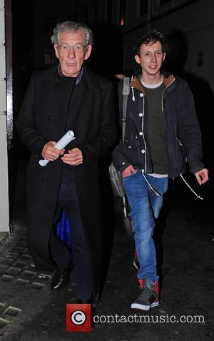 Ian McKellen Sir Ian McKellen arrives at the Ivy Club  Featuring: Ian McKellen Where: London, United Kingdom When: 08...