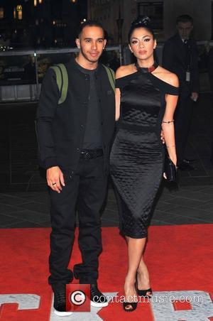 Lewis Hamilton and Nicole Scherzinger, Jack Reacher premiere