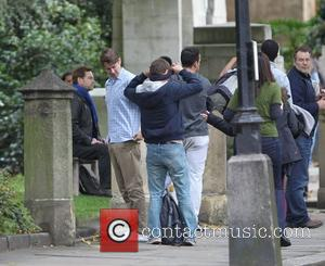 Chris Pine and Kenneth Branagh filming scenes for the new movie 'Jack Ryan' in Lincoln's Inn Fields London, England -...