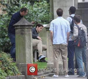 Chris Pine  filming scenes for his new movie 'Jack Ryan' in Lincoln's Inn Fields London, England - 30.09.12