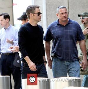 Chris Pine Filming scenes for 'Jack Ryan' in Manhattan New York City, USA - 01.09.12