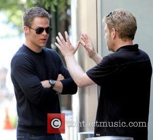 Chris Pine, Kenneth Branagh Filming scenes for 'Jack Ryan' in Manhattan New York City, USA - 01.09.12