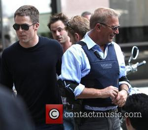 Chris Pine, Kevin Costner Filming scenes for 'Jack Ryan' in Manhattan New York City, USA - 01.09.12