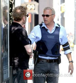 Kevin Costner, Kenneth Branagh Filming scenes for 'Jack Ryan' in Manhattan New York City, USA - 01.09.12