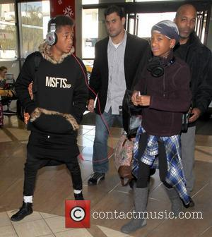 Jaden Smith and Willow Smith  arrive together with their security team at LAX airport to catch a Delta airlines...