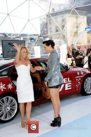 Jane Krakowski and Johnny Weir