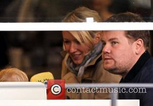 Newlyweds James Cordon, Julia Carey, Max, North London. The, At, Corden and Spongebob Squarepants