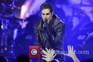 Perry Farrell  Jane's Addiction performing on stage at Massey Hall for their Theatre of the Escapists Tour 2012 Toronto,...