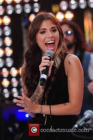 Christina Perri performing live at the Toyota Concert Series on 'Today' New York City, USA - 31.08.12