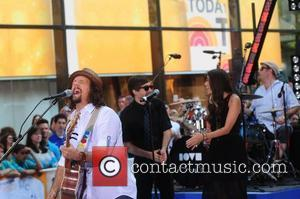 Jason Mraz and Christina Perri  performing Live at the Today Show Concert Series ,  New York City, USA,...