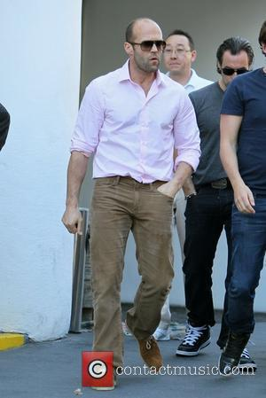 Jason Statham leaving lunch with a friend in West Hollywood Los Angeles, California - 10.02.12