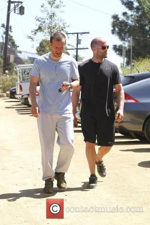 Jason Statham and a friend are seen taking a walk in Runyon Canyon Los Angeles, California - 15.05.12