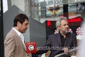 Javier Bardem and Sam Mendes