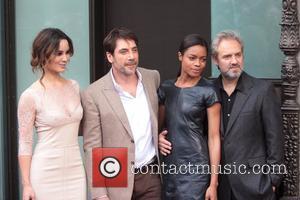 Javier Bardem, B, Naomie Harris, Marlohe and Sam Mendes