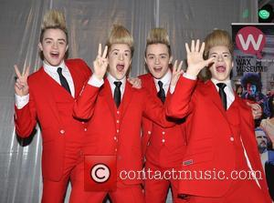 Jedward unveil their waxwork at The National Wax Museum  Featuring: John Grimes, Edward Grimes, Jedward
