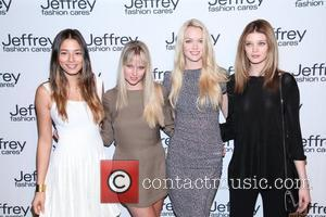 Jessica Gomes, Genevieve Morton, Lindsay Ellingson, Diana Moldovan Jeffrey Fashion Cares 2012 held at the Intrepid Aircraft Carrier  New...