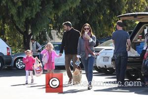 Ben Affleck, Jennifer Garner, Seraphina Affleck, Violet Affleck and Brentwood