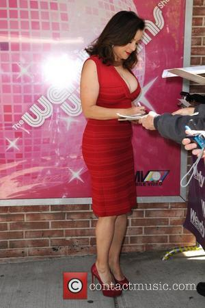 Actress Jennifer Tilly is seen leaving 'The Wendy Williams Show' in Manhattan New York City, USA - 30.04.12