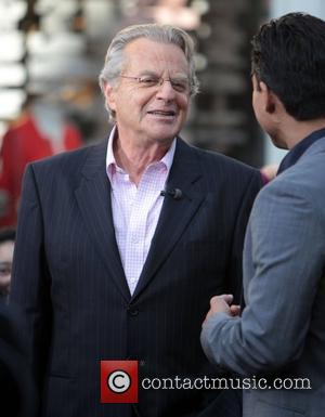 Jerry Springer appears on entertainment news show 'Extra' at The Grove Los Angeles, California - 02.02.12