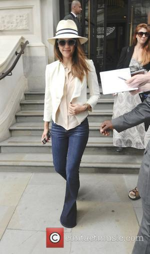 Jessica Alba leaving her hotel London, England - 30.05.12
