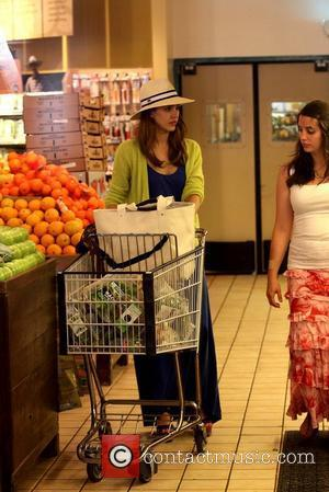 Jessica Alba shopping for groceries at Whole Foods Market in Beverly Hills Los Angeles, California - 20.05.12