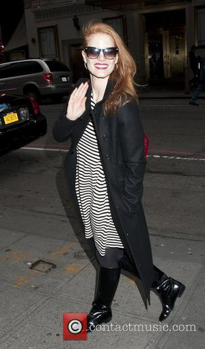 Jessica Chastain at the stage door  of  'The Heiress' at the Walter Kerr Theater New York City, USA...