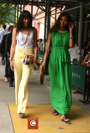 Jessica White and Shontelle  seen out together for lunch New York City, USA - 01.06.12
