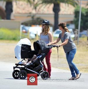 Jillian Michaels, personal trainer and star of NBC's 'The Biggest Loser' and 'Losing It With Jillian', enjoys a day out...