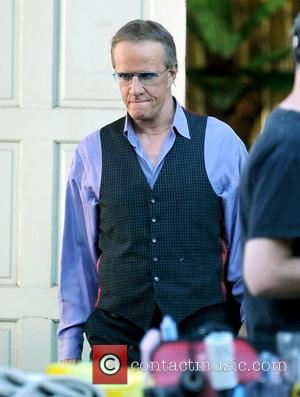 Christopher Lambert filming his new movie 'Electric Slide' in downton Los Angeles which is based on a true story of...