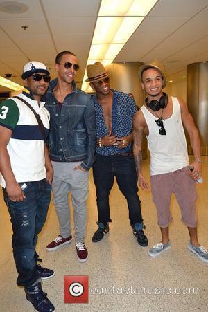 Jonathan 'JB' Gill, Marvin Humes, Oritse Williams and Aston Merrygold  JLS arrive at Miami International Airport Miami, Florida -...