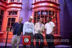 Aston Merrygold, Oritse Williams, Marvin Humes, Jonathan Gill   JLS visit Warner Bros. Studio Tour London - The Making...