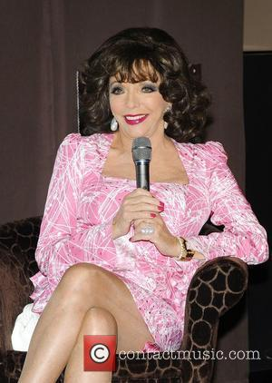 Joan Collins attend the press call to unveil the new Snickers campaign Hamburg, Germany - 23.04.12