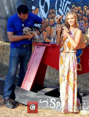 Romain Zago and Joanna Krupa Joanna Krupa enjoys a day at Mr. Bones Pumpkin Patch with her boyfriend and her...