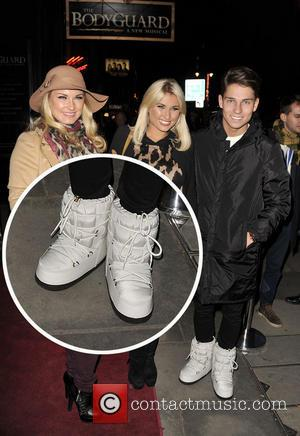 Joey Essex appears to not know his left from his right as he steps out with his moon boots on...
