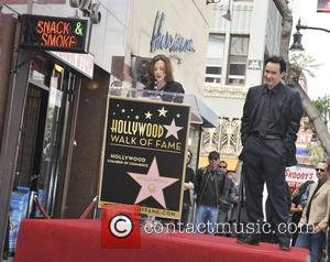 Joan Cusack, John Cusack and Star On The Hollywood Walk Of Fame