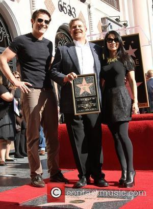 Goran Visnjic, John Wells and Lucy Liu attending the John Wells Hollywood Walk Of Fame Induction Ceremony held on Hollywood...