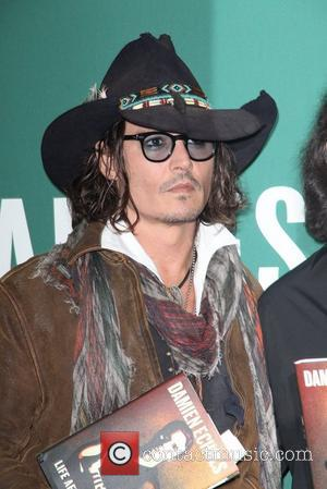 Johnny Depp attends Damien Echols In Conversation With Johnny Depp at Barnes & Noble Union Square  New York City,...