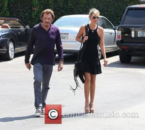 Johnny Hallyday and his wife Laetitia Hallyday visit Sunset Plaza Los Angeles, California - 10.09.12