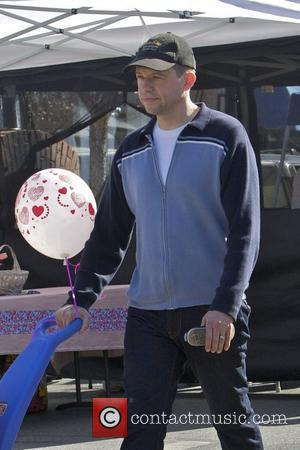 Jon Cryer spends the morning at a Farmers Market with his family Studio City, California - 04.03.12