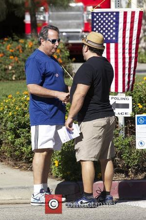 Jon Lovitz arriving at the polling station for the US Presidential election in Hollywood Los Angeles, California - 06.11.12