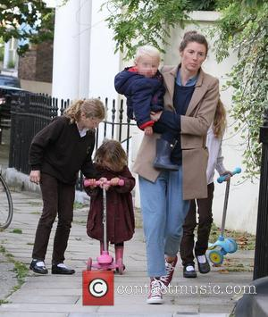 Jools Oliver and children  out and about in Primrose Hill London, England - 25.09.12