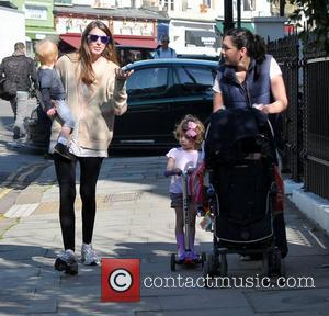 Jools Oliver  in Primrose Hill with her son Buddy Bear London, England - 28.03.12
